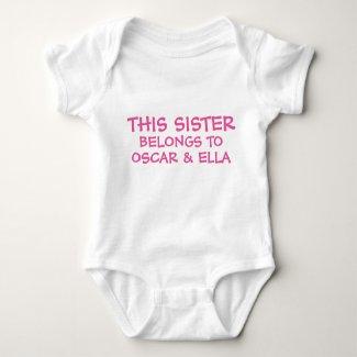 Personalised Sister Bodysuit