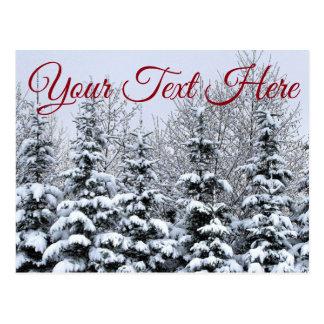 Customise, Snowy Trees Postcard