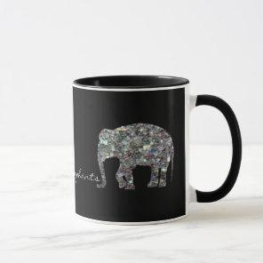 Customise Sparkly colourful silver mosaic Mug