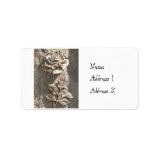 Customise Stone Rose Address Label