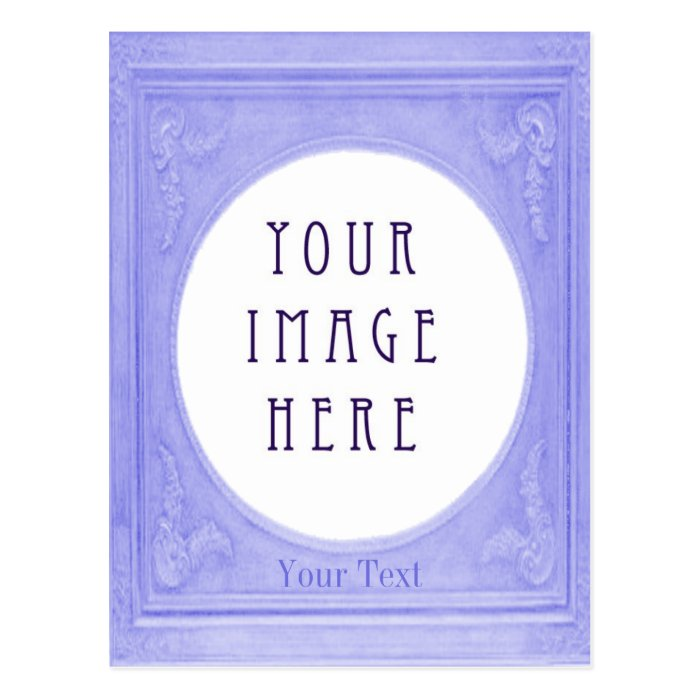 Customise Swedish Blue Border Portrait Postcard