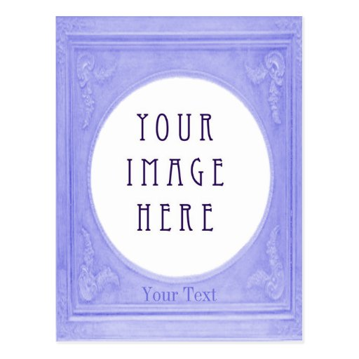 Customise Swedish Blue Border Portrait Postcards