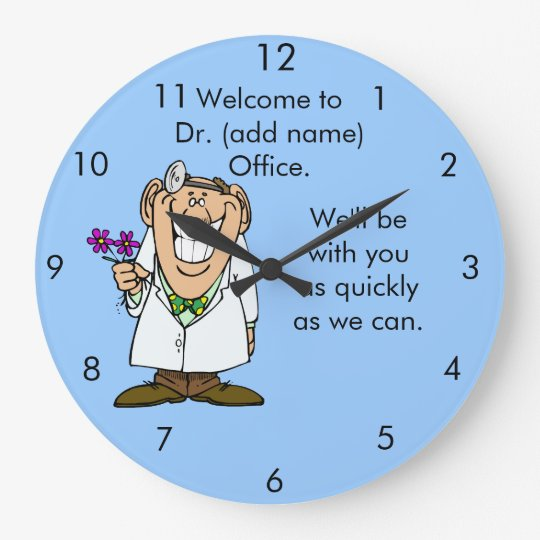 Customise Text Dr.'s Office Clock