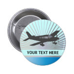 Customise Text - Low Wing Aeroplane Button