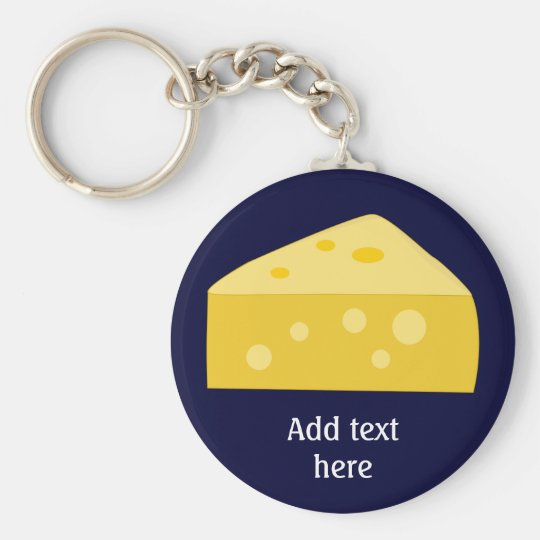 Customise this Big Cheese graphic Basic Round Button Key Ring