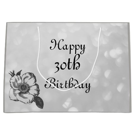 Customise this Happy 30th Birthday Large Gift Bag