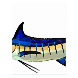 Customise this Marlin with your Boat Name Postcard