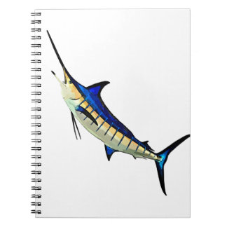 Customise this Marlin with your Boat Name Spiral Notebook