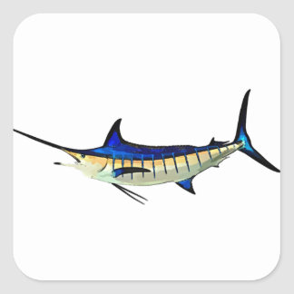 Customise this Marlin with your Boat Name Square Sticker