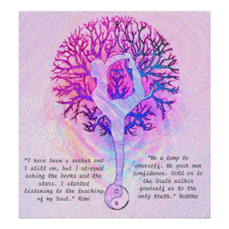 Customise this Poster - Pink Yoga Yin Yang