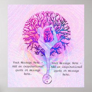 Customise this Poster - Pink Yoga Yin Yang