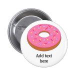 Customise this Ring Doughnut Graphic 6 Cm Round Badge