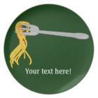Customise this Spaghetti Pasta graphic Plate