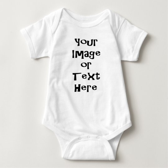 Customise with personalised pictures and text baby bodysuit