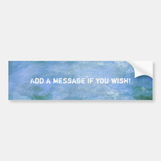 Customise Your Bumper Sticker