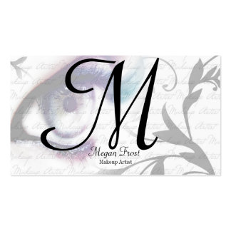 customise your monogram pack of standard business cards