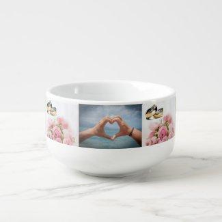 Photo Collage Soup Mug