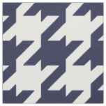 Customise your own bold blue white houndstooth fabric