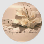Customise your own calla lily round stickers