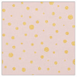 Customise your own gold polka dots in pink fabric