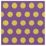 Customise your own gold polka dots in purple fabric