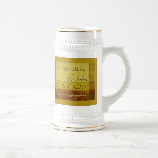 Customise your own Golden Anniversary Beer Stein