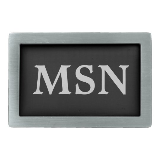 Customise your own initials Belt Buckle