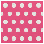 Customise your own polka dots pattern in pink fabric