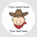 Customise Yourself Cowboy Sticker