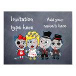 Customise Zombies wedding bride groom accessories 11 Cm X 14 Cm Invitation Card
