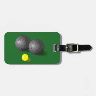 Customiseable Lawn Bowls, Short mat bowls label Luggage Tag