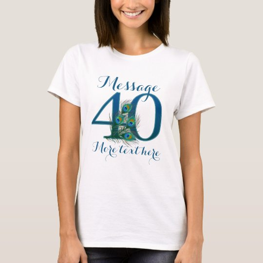 Customised 40th wedding anniversary text T-shirt