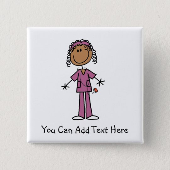 Customised African American Nurse Button