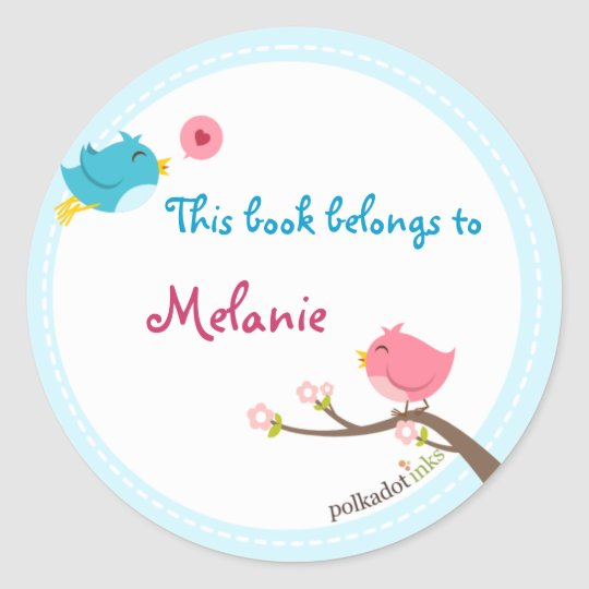 Customised Birdie Stickers Book