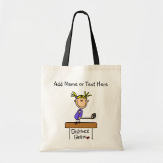 Customised Blonde Girl Balance Beam  Tote  Bag