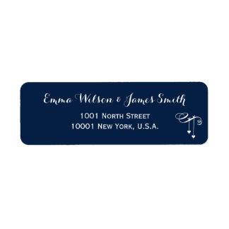 Customised Blue Personalised Address Labels