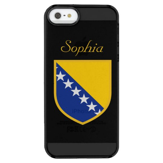 Customised Bosnia Flag Clear iPhone SE/5/5s Case