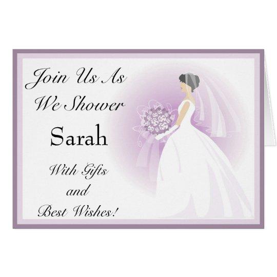 Customised Bridal Shower Invitations