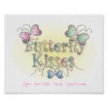 Customised Butterfly Kisses Wall Art