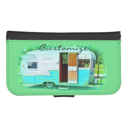 Customised caravan gypsy casa samsung s4 wallet case