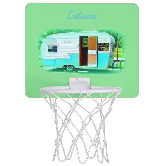 Customised caravan Vintage camper Mini Basketball Hoop
