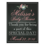 Customised Chalk Baby Shower Sign, Welcome Poster