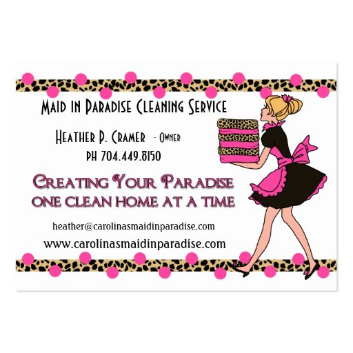 sample business cards for cleaning services