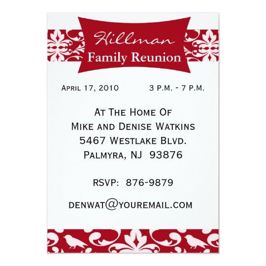 Customised Family Reunion Invitation