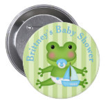 Customised Frog Baby Shower Button