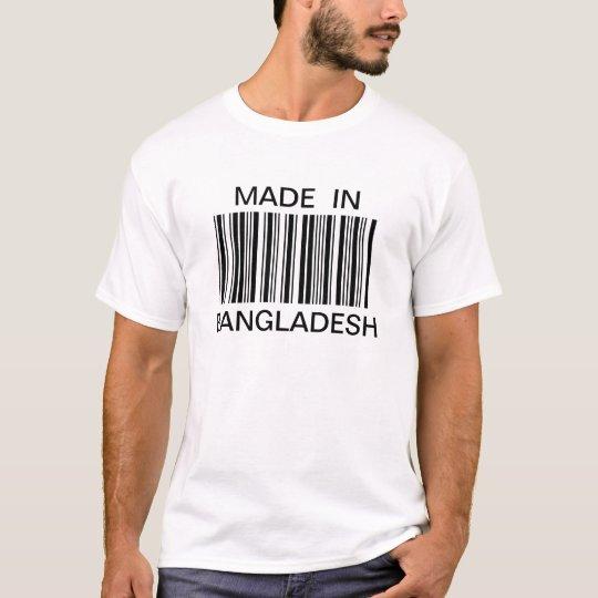 Customised Generic Bar Code Made In T-shirt