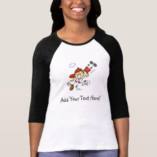 Customised Girls Baseball Dive T-shirts