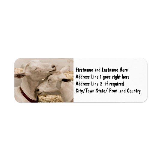Customised Goat Farming Couple Return Address Label