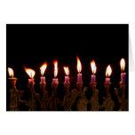 Customised Hanukkah Menorah Candles Holiday Card