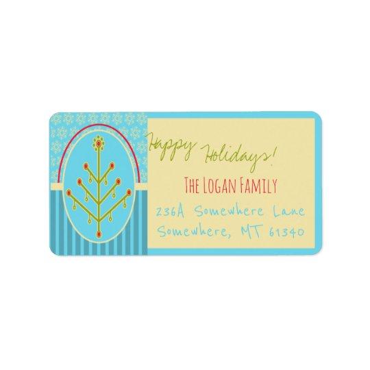 Customised Holiday Address Labels Modern Design